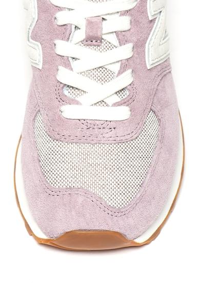 New Balance 574 sneaker nyersbőr szegélyekkel női