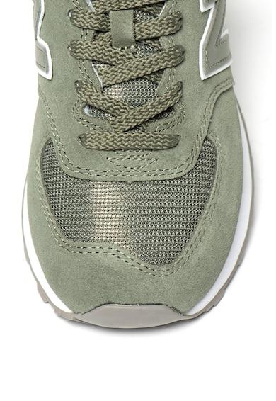 New Balance Велурени спортни обувки 574 с мрежести детайли Жени