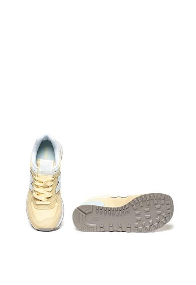 New Balance Велурени спортни обувки 574 с мрежести зони Жени