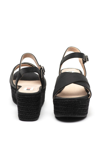 MTNG Sandale wedge tip espadrile, de piele intoarsa ecologica Femei