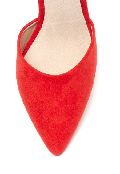 MTNG Nyersbőr hatású bokapántos cipő női