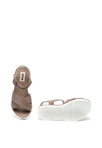 MTNG Sandale wedge, de piele intoarsa ecologica Femei