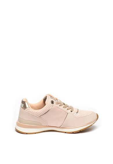 MTNG Pantofi sport de piele ecologica, cu particule stralucitoare Femei