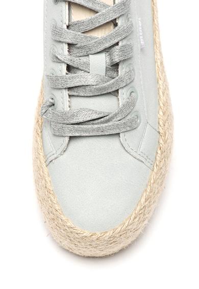 MTNG Pantofi sport flatform tip espadrile, de piele intoarsa ecologica Femei