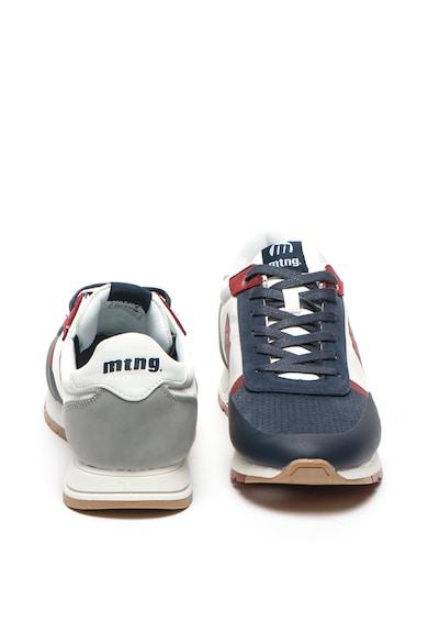 MTNG Pantofi sport de piele ecologica si material textil, cu Breath System Barbati