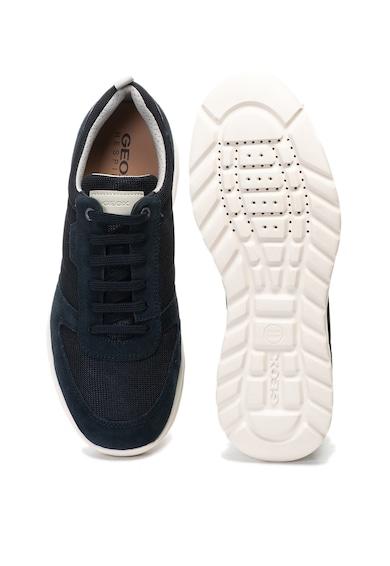 Geox Damian sneaker cipő nyersbőr betétekkel férfi