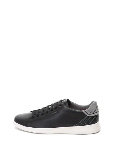 Geox Pantofi sport din material usor cu garnituri de piele intoarsa Kennet Barbati