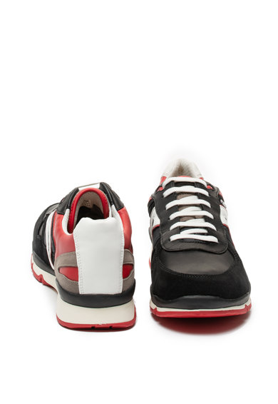 Geox Pantofi sport cu garnituri de piele intoarsa Sandofrd Barbati