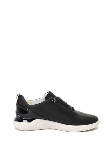 Geox Theragon bőr sneaker cipő perforált dizájnnal női