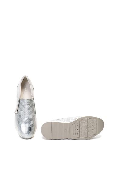 Geox Pantofi slip-on cu garnituri de piele intoarsa Gendry Femei