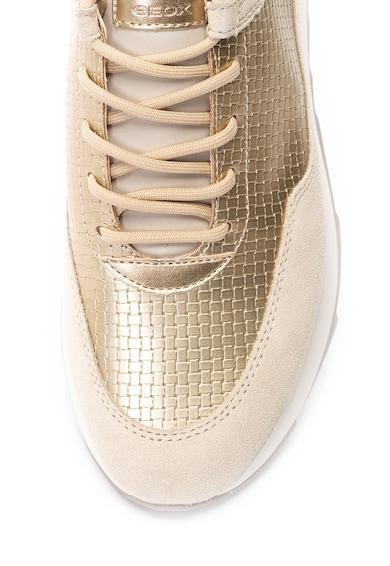 Geox Gendry sneaker cipő nyersbőr szegélyekkel női