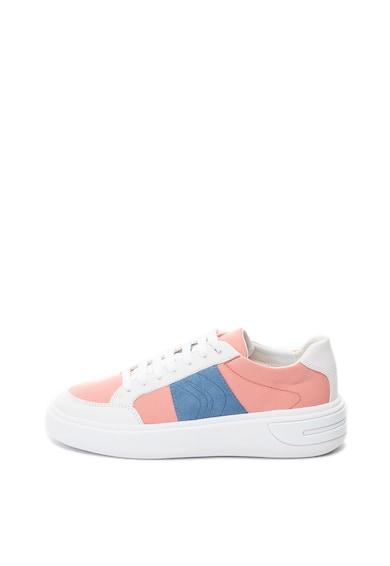 Geox Ottaya sneaker cipő bőrszegélyekkel női