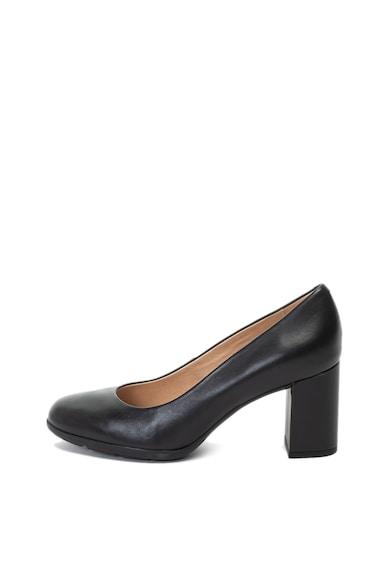 Geox Annya bőrcipő vastag sarokkal női
