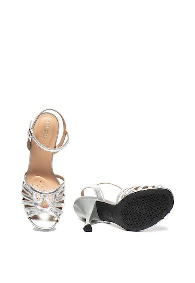 Geox Sandale de piele cu aspect metalizat Elisangel Femei
