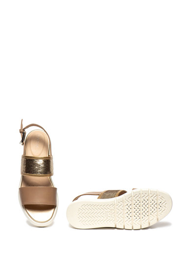Geox Sandale de piele cu paiete Wimbley Femei