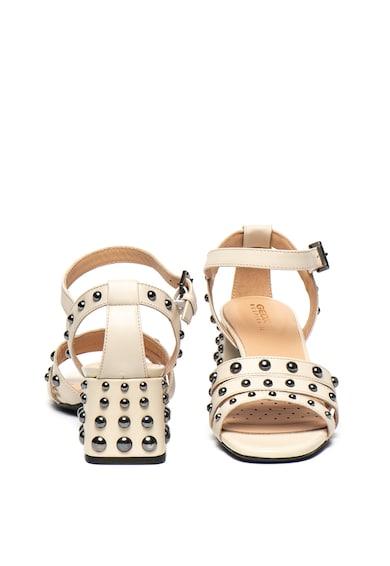 Geox Sandale de piele cu toc masiv Seyla Femei