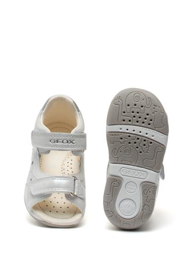 Geox Sandale de piele si piele ecologica, cu velcro Tapuz Fete