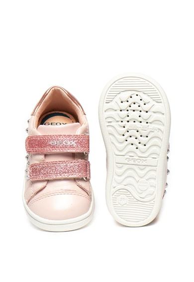 Geox Rock bőr sneaker gyöngyös rátétekkel Lány