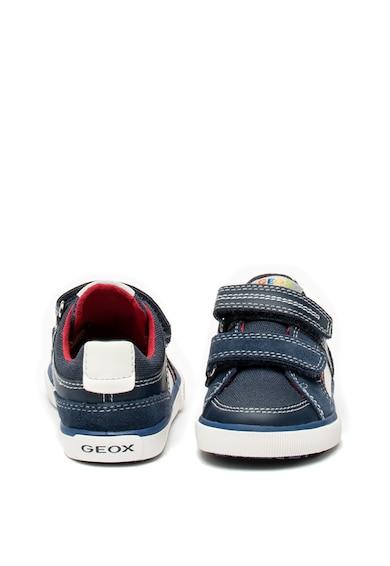 Geox Kilwi tépőzáras sneaker bőr és nyersbőr szegélyekkel Fiú