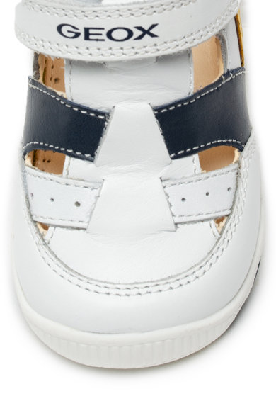 Geox Pantofi de piele si material textil cu velcro New Balu Baieti