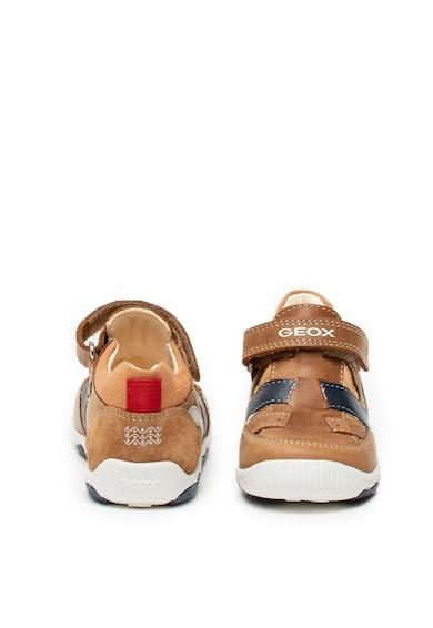 Geox New Balu bőr és nyersbőr tépőzáras cipő Fiú