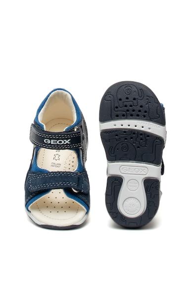 Geox Sandale de piele si panza, cu velcro Tapuz Baieti