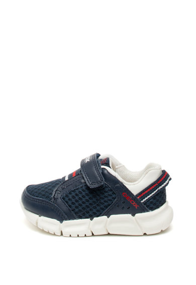 Geox Pantofi sport de plasa si piele, cu velcro Flexyper Baieti
