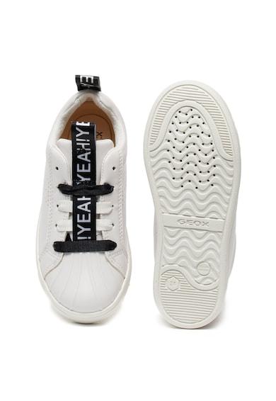 Geox Pantofi sport de piele ecologica DJRock Fete