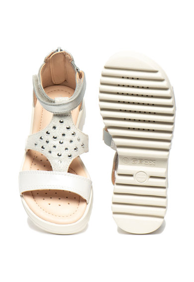 Geox Sandale cu velcro si decoratiuni Coralie Fete