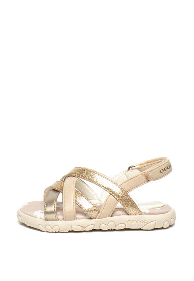 Geox Sandale de piele ecologica Hahiti Fete