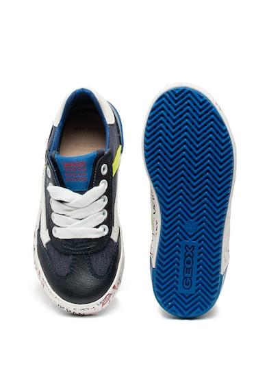 Geox Pantofi sport de piele ecologica si material textil Alonisso Baieti