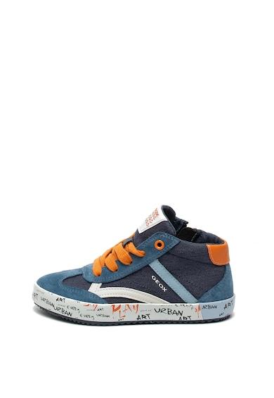 Geox Alonisso középmagas szárú cipő nyersbőr részletekkel Fiú