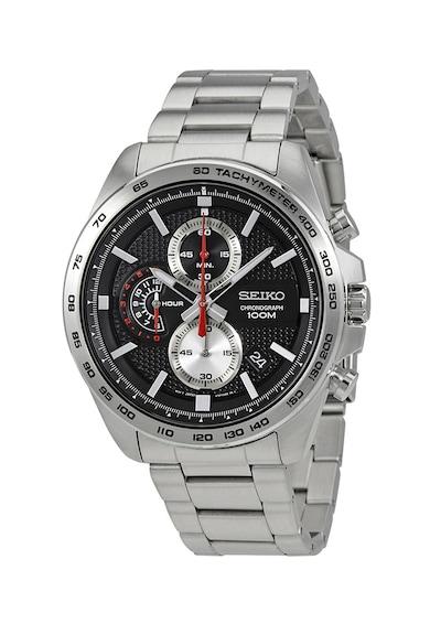 Seiko Часовник от неръждаема стомана с хронометър Мъже