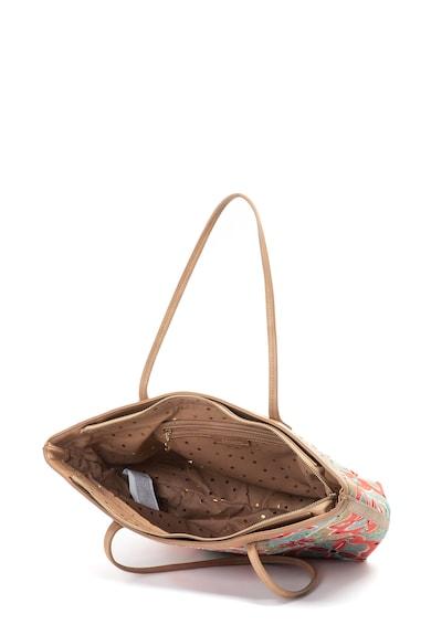 DESIGUAL Geanta shopper de piele ecologica, cu broderie cu model arabesque Femei