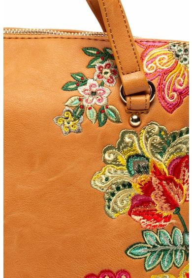 DESIGUAL Gela műbőr kézitáska virágos hímzéssel női