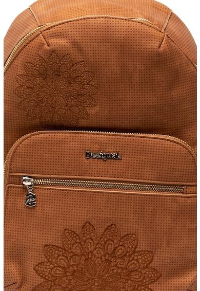 DESIGUAL Lima műbőr hátizsák hímzett részletekkel női