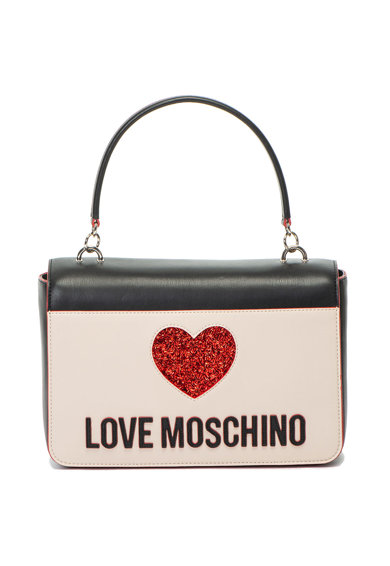Love Moschino Műbőr válltáska logós foltrátéttel női