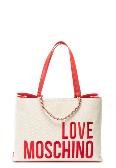 Love Moschino Geanta shopper cu logo brodat Femei