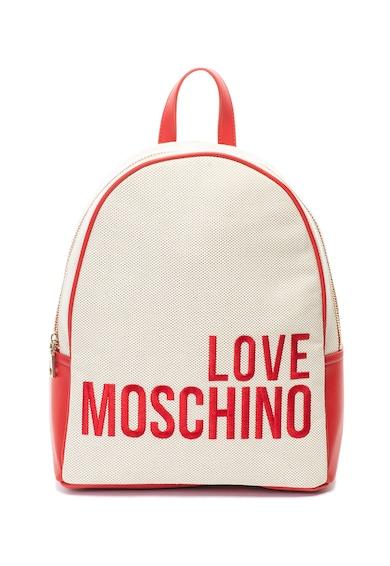 Love Moschino Раница от текстил и еко кожа с лого Жени