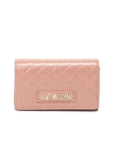 Love Moschino Капитонирана чанта през рамо от еко кожа Жени