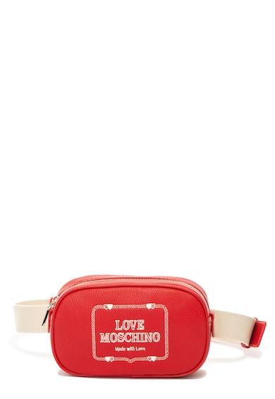 Love Moschino Műbőr övtáska hímzett logóval női