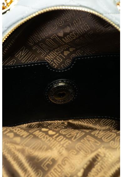 Love Moschino Kicsi műbőr hátizsák steppelt hatással női