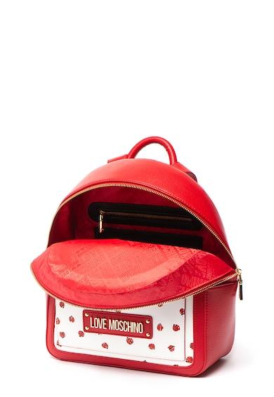 Love Moschino Műbőr hátizsák mintás elülső résszel női