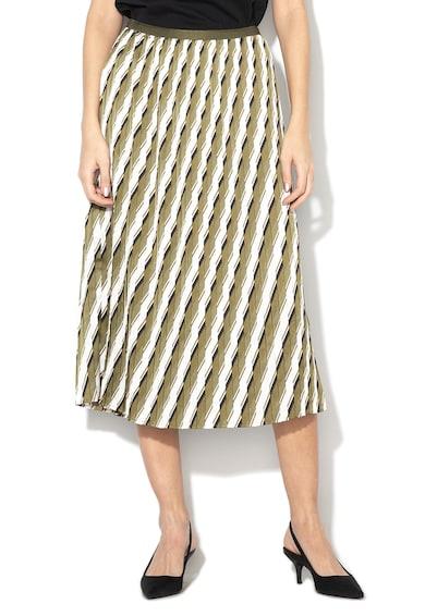 Sisley Плисирана пола с абстрактен десен Жени