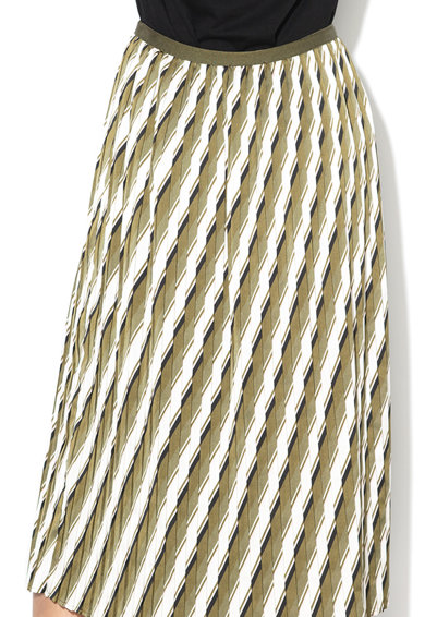 Sisley Fusta midi cu pliuri si model abstract Femei