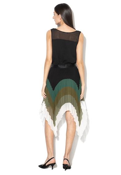 Sisley Rochie asimetrica cu model cu pliuri Femei