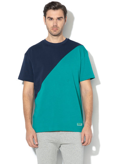 United Colors of Benetton Tricou cu model colorblock si aplicatie logo Barbati