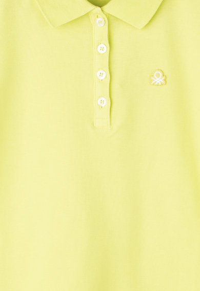 United Colors of Benetton Tricou polo cu aplicatie cu broderie logo Fete