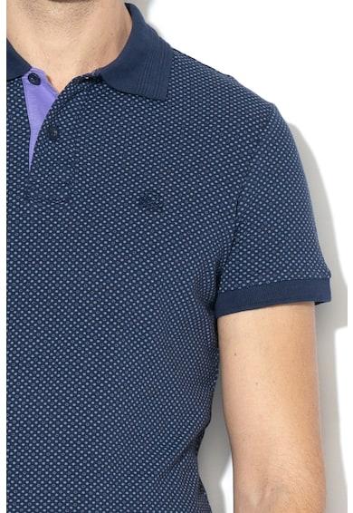 United Colors of Benetton Tricou polo slim fit cu imprimeu geometric Barbati