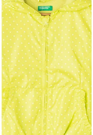 United Colors of Benetton Jacheta usoara cu gluga si buline Fete